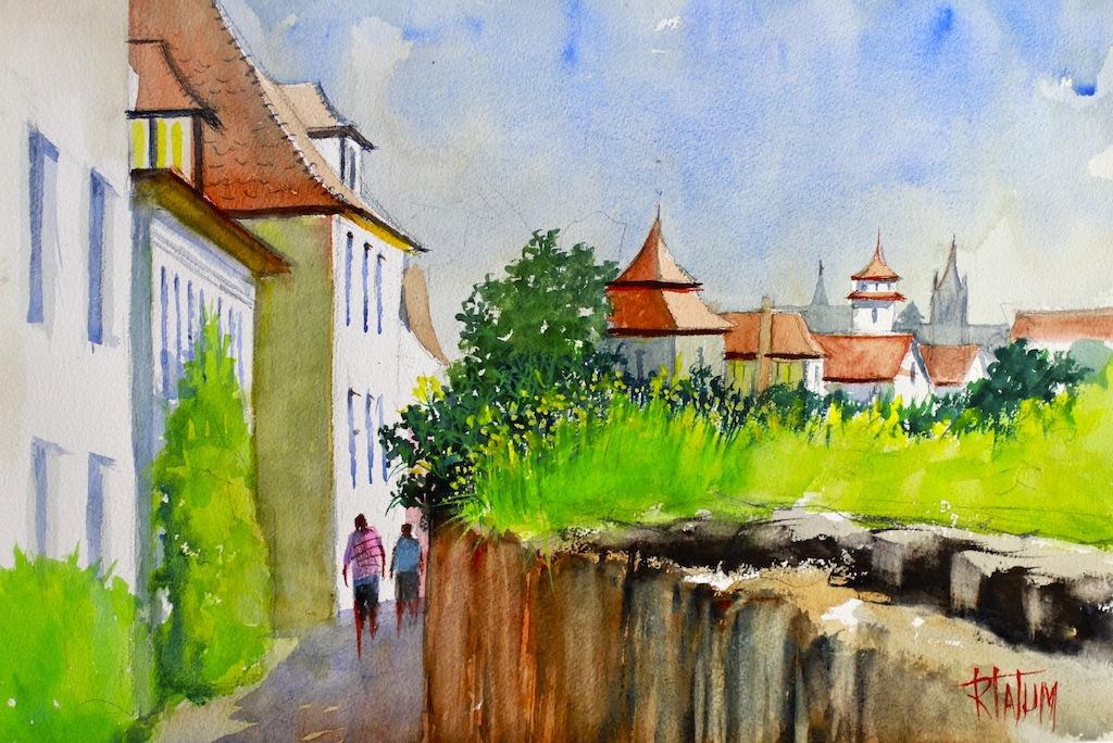 Along Rothenburg Wall