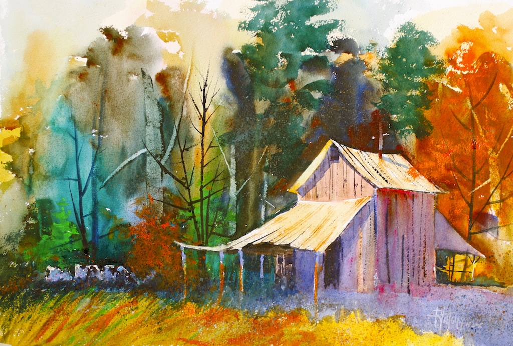 Sundown on the barn